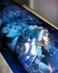 Tribute, Airbrush with Love... - Fotorealismo