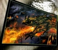 Magic Dragon and Flames - Kustom Airbrush
