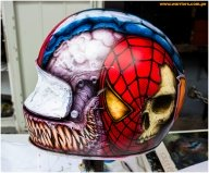 airbrushing - custom helmet