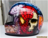 Airbrush Step by Step - custom helmet
