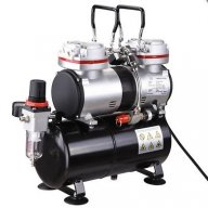 $98.96 Twin Cylinder Piston #Airbrush #Compressor w/Tank 1/3 HP Hobby T-Shirt Tattoo - Airbrush Deals