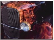 Real Flames on HotRod - Kustom Airbrush