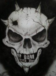 Skull I airbrushed to test my Badger Krome - Personal Projects