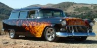55 Chevy - true fire - Kustom Airbrush
