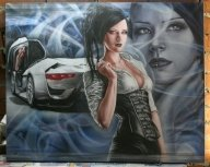 80*100 cm canvas contest art - Airbrush Artwoks