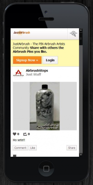 #JustAirbrush #MOBILE!