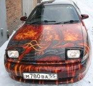 toyota celica true fire succub project - Kustom Airbrush